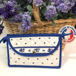 Make-up / Toiletry Bag Small Calisson White/Blue  Made in France