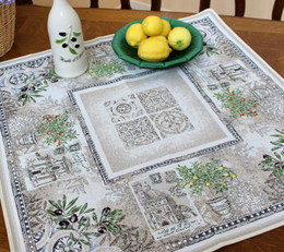 Riviera 72x72cm Table Cover Made in France