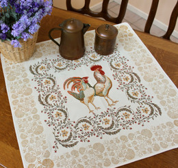 Chanteclair 72x72cm Table Cover Made in France