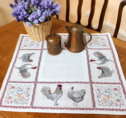 Lafayette 72x72cm Table Cover Made in France