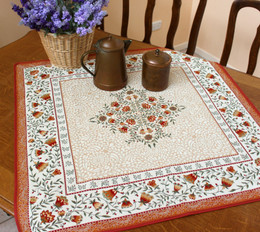 Aubrac Rust 83x83cm Table Cover Made in France