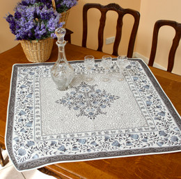 Aubrac Blue 83x83cm Table Cover Made in France