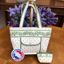 Provence Quilted Shoulder Bag +Purse Made in France