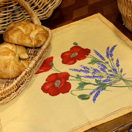 Poppy Yellow French Serviette Napkin Made in France