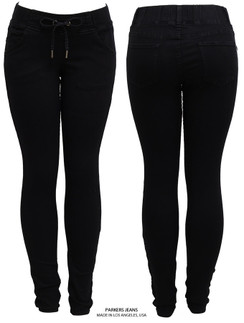 Parkers Stretch Black Joggers Skinny Jeans Size
