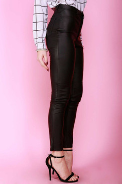 High Quality Black Faux Leather Pants
