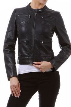 Super Cute Faux Leather Jacket