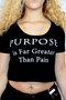 Black Graphic Purpose Crop Top