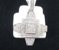 7 Carat Diamond Pendant Medallion, in 14kt white gold