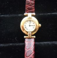 Ladies Must De Cartier Gold Tone Watch