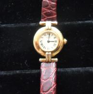 Ladies Must De Cartier Gold Tone Watch