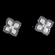 18kt White Gold Diamond & Black Diamond Earrings