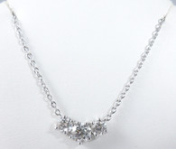 1 1/2 Carat 'Past, Present. Future' 3 Diamond Pendant Necklace