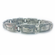 4 Carat Diamond Bracelet, in 14k White Gold