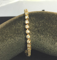 3 Carat Diamond Tennis Bracelet, in Yellow Gold