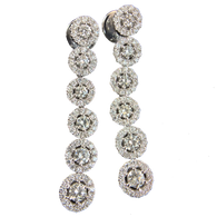 Cascading Diamond Chandelier Earrings