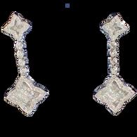 3 1/2 carat Diamond Chandelier Earring in 18kt White Gold