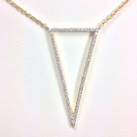 Diamond Triangle Necklace, in 14kt Yellow Gold