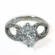 1.1ct Oval Diamond Engagement Ring