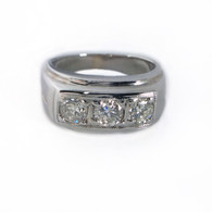 3 Diamond White Gold Ring