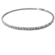 Circle and Square Tennis Bracelet