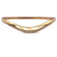 18kt Rose Gold Diamond Bangle Bracelet