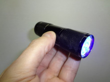 9 Led Black Light. Requires 3 AAA Batteries Not Included.