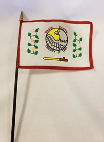 White Earth Nation Stick Flag