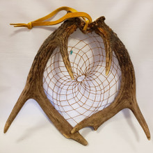 Large Deer Antler Dream Catcher