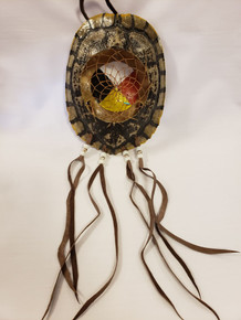 Turtle Shell DreamCatcher with Medicine wheel