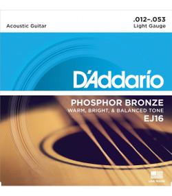 D'addario EJ16 Phosphor Bronze Light Gauge Acoustic Guitar Strings