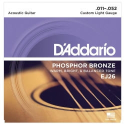 D'addario EJ26 Phosphor Bronze Custom Light Gauge Acoustic Guitar Strings