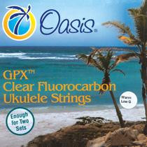 Oasis GPX Clear Bright High G Fluorocarbon Ukulele Strings