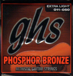 GHS Phosphor Bronze Extra Light Gauge Acoustic Guitar Strings