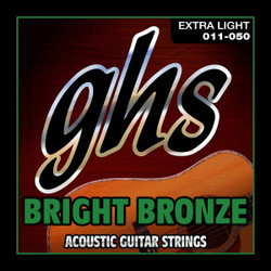 GHS Bright Bronze Extra Light Gauge Acoustic Guitar Strings