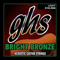 GHS Bright Bronze Light Gauge Acoustic Guitar Strings