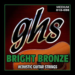 GHS Bright Bronze Medium Gauge Acoustic Guitar Strings