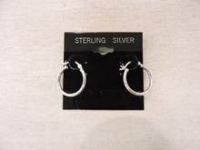 Sterling Silver Hoop Earrings $14