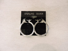 Sterling Silver Hoop Earrings $18