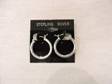 Sterling Silver Hoop Earrings $20