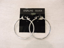 Sterling Silver Hoop Earrings $24