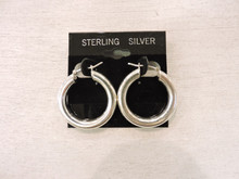 Sterling Silver Hoop Earrings $36