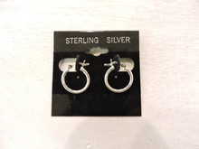 Sterling Silver Hoop Earrings $10