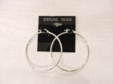 Sterling Silver Hoop Earrings $32