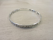 Scripture engraved into bracelet