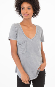 Z Supply distressed grey pocket tee