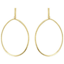Sheila Fajl Twisted Oval Hoop Earrings