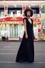 Dark purple velvet maxi wrap dress made in the USA by evangeline clothing.