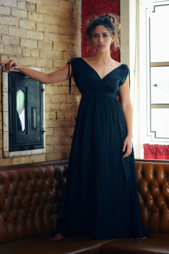 The Genevieve Silk Maxi Dress