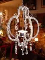 Danish Glittering Jewelled T-light Chandelier